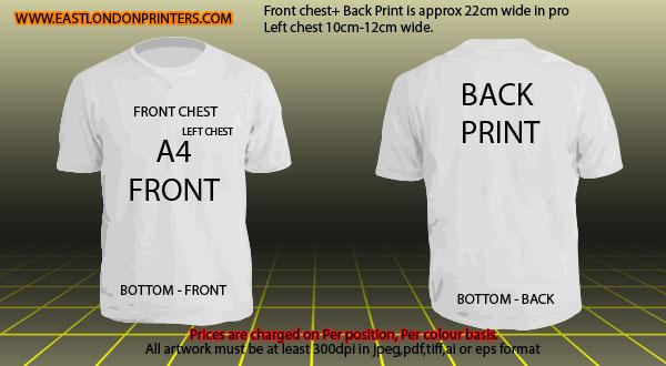 T shirt printing mockups and print guide for T shirt printing template