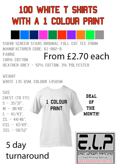 T shirt printing london express last minute service for T shirt screen printers for sale