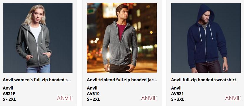 Anvil hoody printing