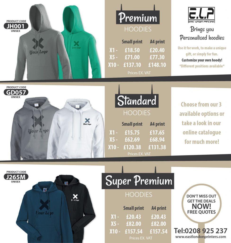 hoodie prices
