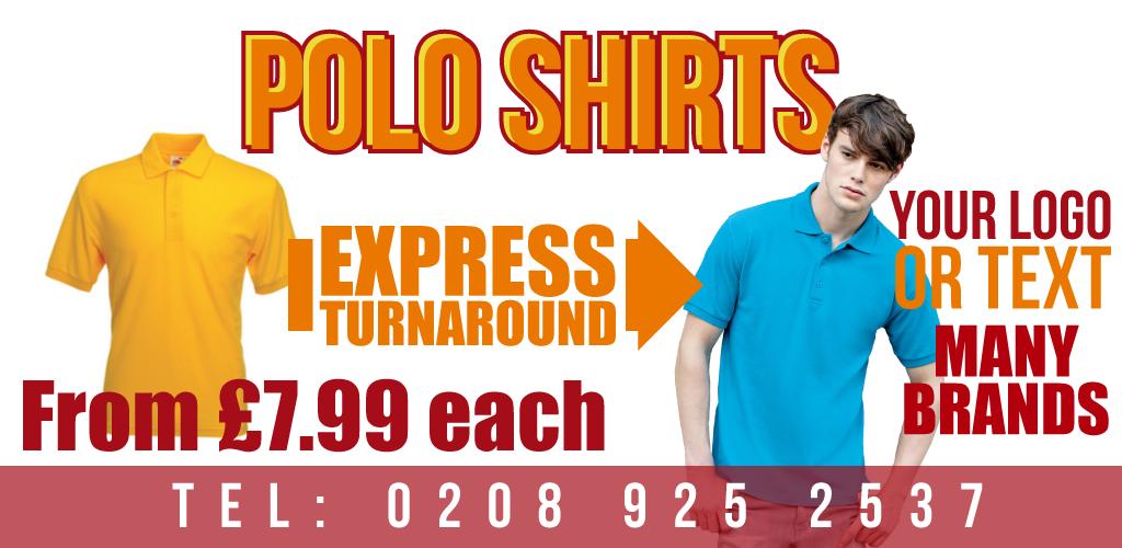 Customised Polo Shirts Polo Shirt Printing London