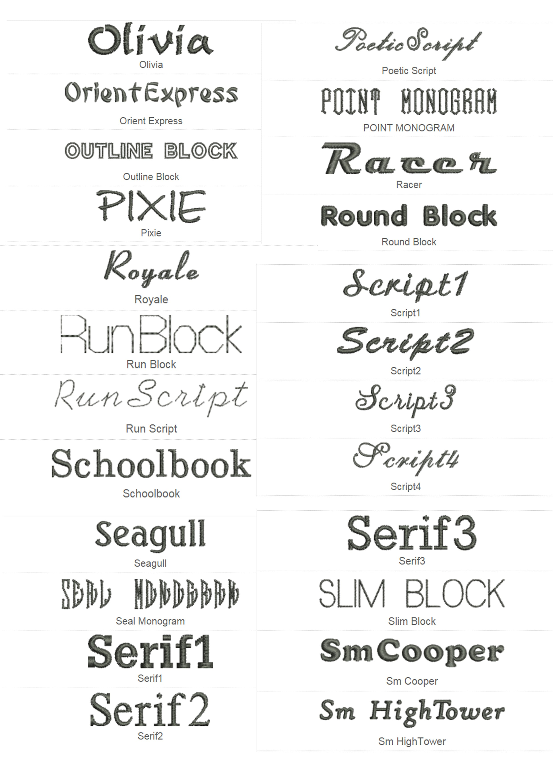 font block 5