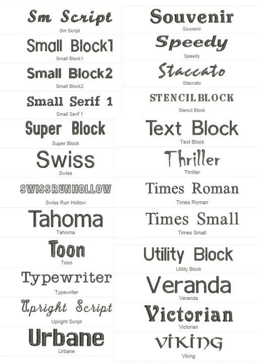 font block 6