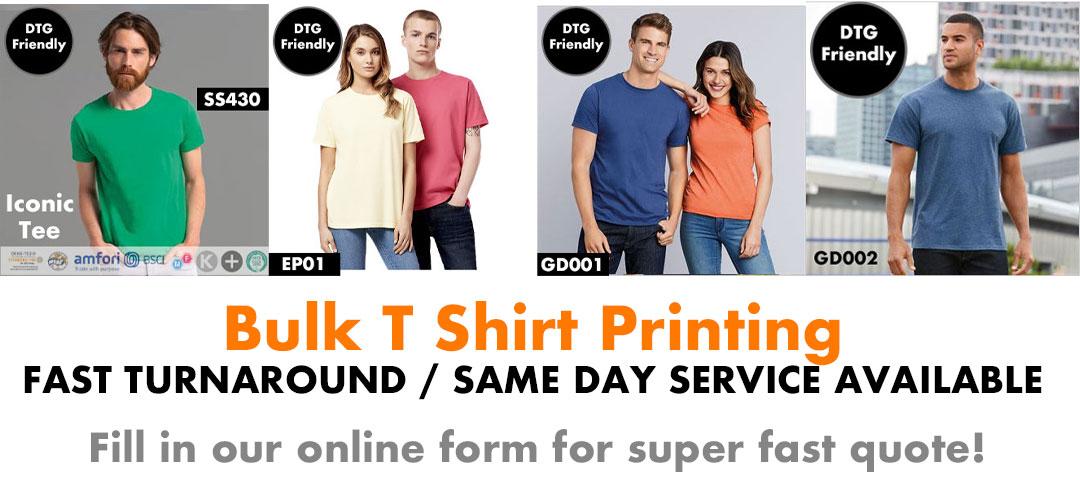 Bulk T Shirt Printing Printed