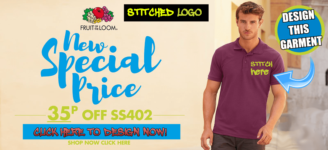 design this collared shirt polo with stitch