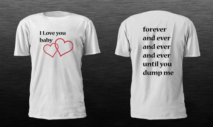 Crazy T shirts, t shirt printing